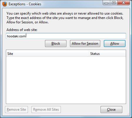 Enabling Cookies in Mozilla Firefox 3.5