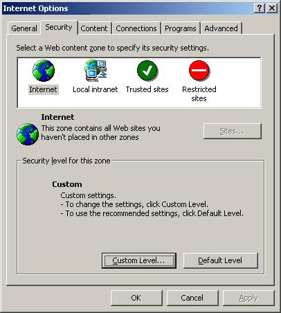 Enabling Cookies in Internet Explorer 5.0/5.5