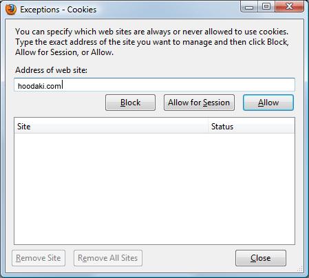 Enabling Cookies in Mozilla Firefox 3.0