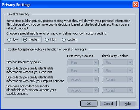 Enabling Cookies in Netscape 7.x