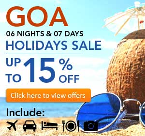 Goa Tour packages 6 nights/ 7days
